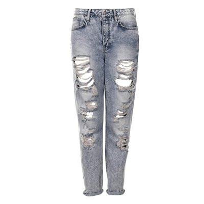 Jeans in destroyed-look