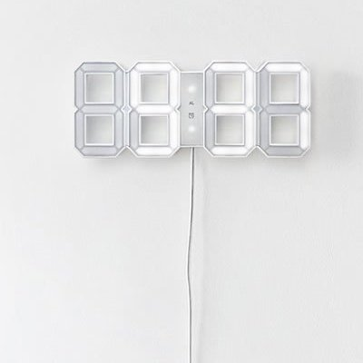 led wanduhr purisd. Black Bedroom Furniture Sets. Home Design Ideas